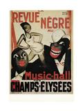 Revue Negre Giclée-tryk af Paul Colin