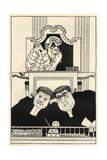 At the Old Bailey: Lord Darling, Sir Herbert Austin and Richard Muir Lámina giclée por Powys Evans
