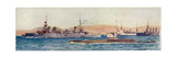 British Sub at Gallipoli Giclee Print by Norman Wilkinson