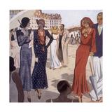 France, La Baule 1931 Giclée-tryk af Nicole Groult