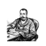 Anatole France Seated Giclee Print by Paul Renouard