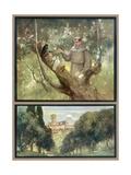 Francesco and Birds Gicléetryck av Stephen Reid