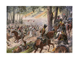 The Battle of Kulm and the French Break Through Giclee Print by R Knoetel