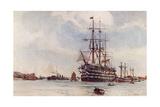 St Vincent Sailing Ship Giclee Print by Norman Wilkinson