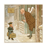 Greeting Young January Giclee Print by Robert Dudley