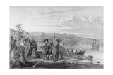 Hudson and Mohicans 1609 Giclee Print by Seth Eastman
