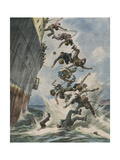 Chinese Pirates Gicléetryck av Vittorio Pisani