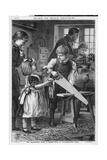 Girl Takes Doll to Shop Reproduction procédé giclée par Robert Barnes