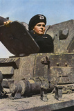 German Tank Commander Fotoprint van Unsere Wehrmacht