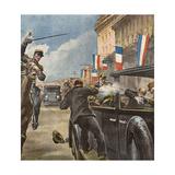 King Alexander Shot, 1934 Gicléetryck av Vittorio Pisani