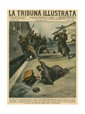 Russia, 1938, Ogpu Arrest Gicléetryck av Vittorio Pisani