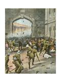 Arab Demo at Jerusalem Gicléetryck av Vittorio Pisani