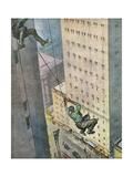 Falling from Skyscraper Gicléetryck av Vittorio Pisani