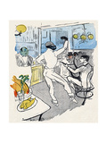 Chocolat, Lautrec, Rire 96 Lámina giclée por Henri de Toulouse-Lautrec