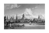 Oxford, Oxfordshire Reproduction procédé giclée par W Westall