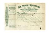 Share Certificate for the Yukon Goldfields Giclee-trykk