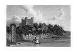 Rochester Castle, Kent Reproduction procédé giclée par W Westall