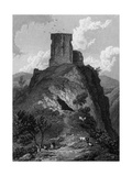 Peveril Castle, Derbyshire Reproduction procédé giclée par W Westall