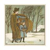 The North Wind Doth Blow Impressão giclée por Walter Crane