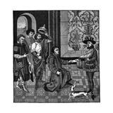 Charlemagne Hears News Reproduction procédé giclée