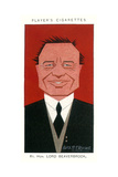Lord Beaverbrook - British Politician Giclee Print by Alick P.f. Ritchie