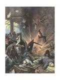 Terrorist Bomb, 1939, Asia Gicléetryck av Achille Beltrame