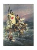 Rescue Rafts Gicléetryck av Achille Beltrame