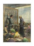 Literacy in Japan Gicléetryck av Achille Beltrame