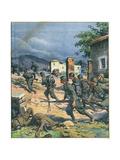 Italians in Greece 1940 Gicléetryck av Achille Beltrame