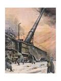 German Guns, Leningrad Gicléetryck av Achille Beltrame