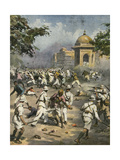 Nationalists in India During Second World War Gicléetryck av Achille Beltrame