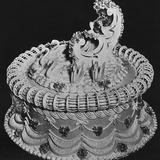 One Tier Wedding Cake with Gondola Impressão fotográfica