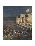 Music, Opera, Verdi, Aida Gicléetryck av Achille Beltrame