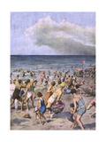Mirage on the Beach Gicléetryck av Achille Beltrame