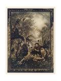 Valiant Tailor Giclee Print by Arthur Rackham