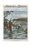 Miracle, Zulu Chief Gicléetryck av Achille Beltrame