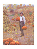Farmer in Autumn 1906 Giclee Print by Arthur Burdett Frost