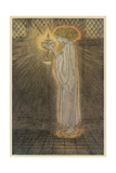 Maiden and Grail Giclee-trykk av Arthur Rackham