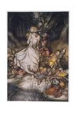 Illustration to Goblin Market Giclee Print by Arthur Rackham