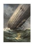 'Akron' Crashes 1933 Gicléetryck av Achille Beltrame