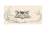 Alice: Cats Head in Cloud Giclee Print by Arthur Rackham