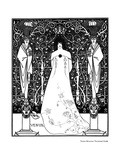 Venus Between Terminal Gods Reproduction procédé giclée par Aubrey Beardsley