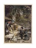 Hansel and Gretel, Meet Witch Giclee Print by Arthur Rackham