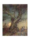 Fairy Folk Gicléetryck av Arthur Rackham