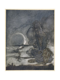 Aesop, Moon and Mother Giclee Print by Arthur Rackham