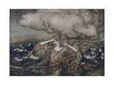 Wind and Waves Rackham Gicléetryck av Arthur Rackham