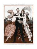 Wealthy Man with Women Admirers Giclée-Druck von Armand Vallee