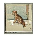 Rufus the Cat Out in the Cold and Rain Giclée-Druck von Cecil Aldin