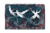 Sirens Swimming Underwater Giclée-Druck von Armand Vallee