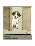 Forager the Puppy Waiting for More Food Giclee Print by Cecil Aldin